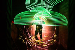 Transcendental (Dennis Calvert) Tags: longexposure light lightpainting motion green art abandoned silhouette night canon lights streak alabama lighttrails nophotoshop xsi boilerroom lapp sooc 450d lightjunkie denniscalvert photonmancer