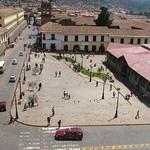Cusco: Vista panorámica de la Plazoleta de San Pedro, uno de los principales barrios del Centro Histórico del Cusco