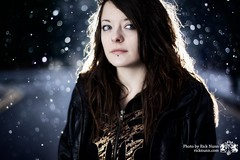 Kym In The Snow (Rick Nunn) Tags: winter portrait people woman snow hot girl neck eyes bokeh pale hawt kym fenchurch explored strobist shewascoldashell vsortpop