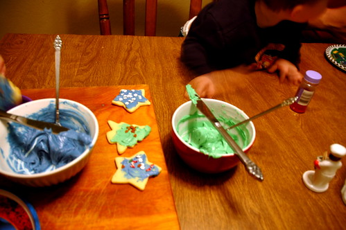 decorating cookies...