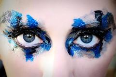 356/365 - 2/52: (Thru Jenns Eyes) Tags: blue selfportrait black me silver eyes 365 week2 facepaint 252 project365 18114 356365 myfaceismycanvas