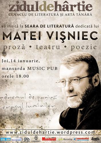 Afis Cenaclu Matei Visniec - WEB