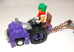 Wonka's Oompa tractor (Craig 'Lego' Lyons) Tags: tractor factory purple lego chocolate charlie trailer wonka fuel willy oompa