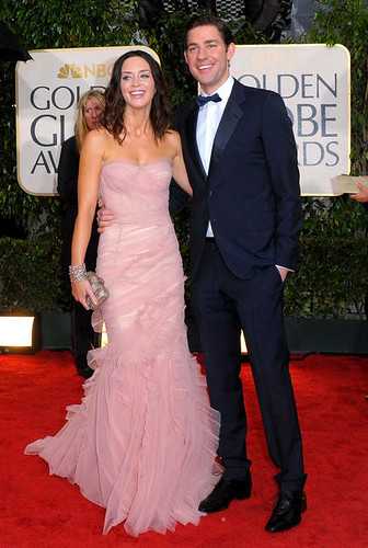 Emily Blunt and John Krasinski at the 67th Golden Globe Awards
