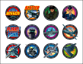 free Flight Zone slot game symbols