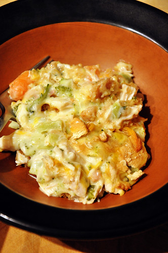 beloved chicken casserole.