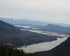 Looking up the channel above Juneau.  Even on a cloudy day, Alaskan views can be great.