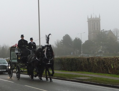 Here comes the hearse