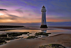 Perch Rock Lighthouse (Steve Wilson - classic view please) Tags: ocean new uk longexposure greatbritain sunset sea england sky cloud lighthouse seascape black color colour beach pool rock night clouds liverpool river sand nikon rocks colorful brighton long exposure time britain tripod great perch colourful d200 peninsula mersey wirral merseyside rivermersey nikond200 newbrightonlighthouse perchrock perchrocklighthouse blackrocklighthouse