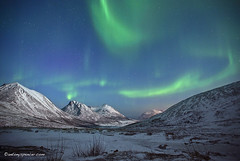 Aurora Borealis, Tromvik (antonyspencer) Tags: winter mountains norway circle lights arctic aurora spencer northern antony borealis tromso feburary troms nordlys rekvik tromvick