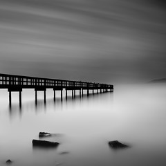 No Direction (maxxsmart) Tags: sanfrancisco california longexposure winter fog clouds contrast sunrise canon square bay pier blackwhite rocks explore lee bayarea february frontpage candlestick 2010 candlestickpoint passingtime clearingstorm ef2470f28l lucky5 5dmarkii bwnd11010stopnd gnd39