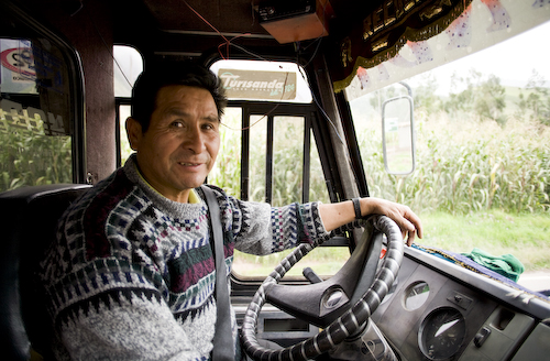 A bus driver who I got to know in the 35 minute ride of terror from Urubamba to Pisac.