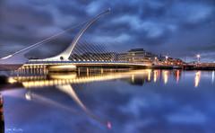 Samuel Beckett Bridge (bestiafoto) Tags: city bridge ireland dublin night canon river eos cityscape nightscape sigma liffey nightshots 1020mm beckett samuel soe hdr iop supershot tmba 400d mywinners dragondaggeraward flickraward