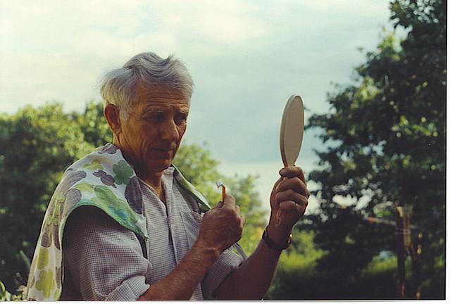 grandpa shaving 1984