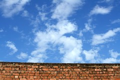 Brick Wall And Sky (personne.de.chandigarh) Tags: sky weather wall clouds canon bricks dslr polarizer picnik chandigarh byd thatwall rebelxs eos1000d bstpics bstpicspub elemx