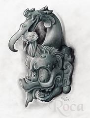 CHAC, DIOS DE  LA LLUVIA MAYA (roca tattoo studio) Tags: tattoo lluvia arte maya flash culture pic dibujo diseo dios tatuaje guerrero prehispanic azteca precolombino prehispanico deidad
