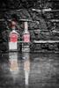 365/46 - My funny valentine (DevilFishMark) Tags: red reflection brick abandoned wet rain him bottle fight funny bottles valentine her alcohol vodka 365 smirnoff 2010 selectivecolour myfunnyvalentine a700 himandher project365 funnyvalentine runningoutoftags valentinesdaymassacre