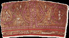 Tapestry with animals & figures 12thc Sicily (julianna.lees) Tags: ancient silk shroud textiles sassanian doubleheaded sassanid suaire
