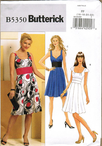 Butterick 5350 dresses front image