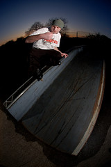 Christoff - Back Farv Up Along & Down (SamCooperPhotography) Tags: canon skating nikond50 wax rollerblading grind cambridgeshire chrisallen speedlite cambourne 540ez blazzeo sigmma10mmfisheye