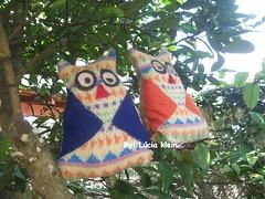 duas corujas feitas com um casaco que quera voar! (Luz BelY) Tags: de casaco reutlizao
