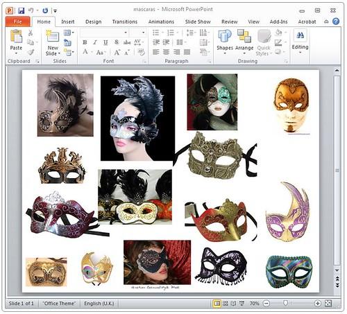 Estudo para máscaras PPT