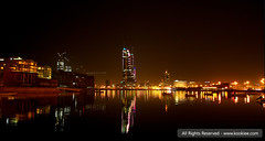 The Night Life (KoOKiE...) Tags: life lighting city water night out photography lights bahrain amazing place harbour earth live awesome best emerging formula1 financial kookiecom