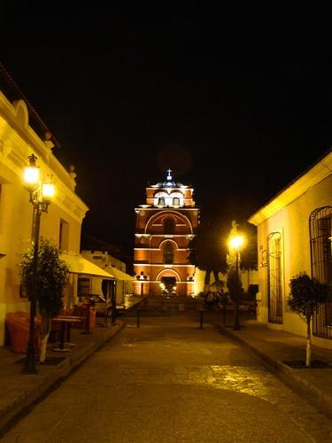 Panorámica nocturna del Arco del Carmen
