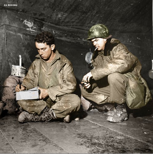 American GI write's a letter home - Italy 1944 ww2