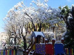 nieve en los Jardinillos
