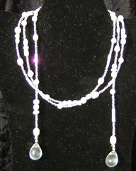 Purity and Pearls Lariat (Lisa's Crafts) Tags: necklace jewelry lariat venusdesigns