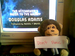 Day 109 (Alejandra Gamgeek from Gallifrey) Tags: silly monkey daily thehitchhikersguidetothegalaxy douglasadams dontpanic