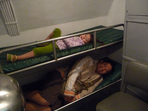 submarine bunks.