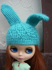 Teal Dream Bunny Hat