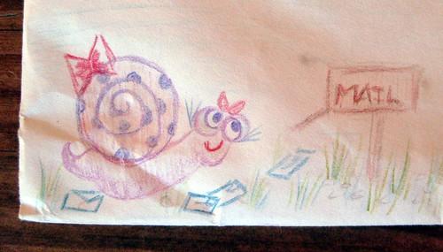 mailbox snail