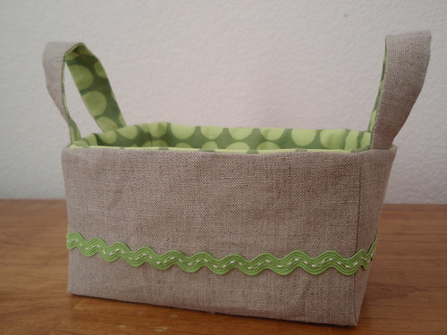 Linen Zakka Inspired Basket