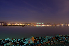 Tappan Zee Bridge ( estatik ) Tags: park longexposure light sky ny newyork night river dark lights quiet hudson nyack thruway 287 f13 tappanzeebridge kartpostal