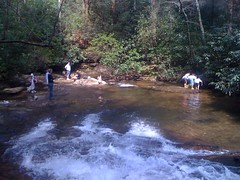 People at Lower Falls