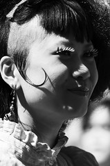 Harajuku Easter (Lori Foxworth) Tags: nyc backandwhite candidportrait easterparade harajukujapanese quotlorifoxworthquot quotlorifoxworthphotographyquot quotblackwhiteandrawquot quotyourdailycheesesteakquot