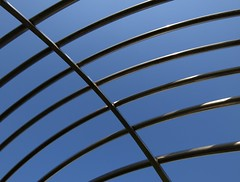 Crossed and Bent (languitar) Tags: blue sky sculpture art pipe bielefeld lens:maker=sigma lens:type=1020mmf456exdchsm lens:aperture=4056 lens:focallength=1020