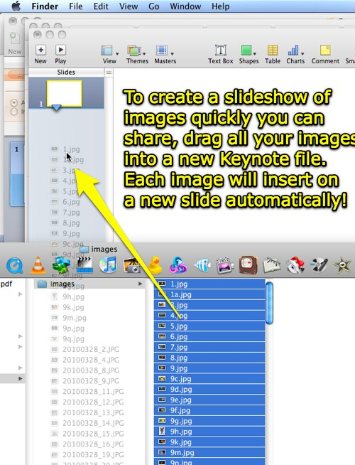 Create an image slideshow in Keynote