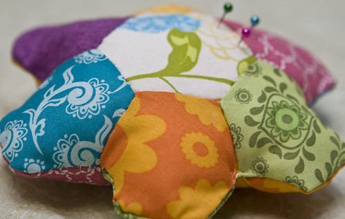 Hexagon Pincushion! by Miss Adventures Crafts.