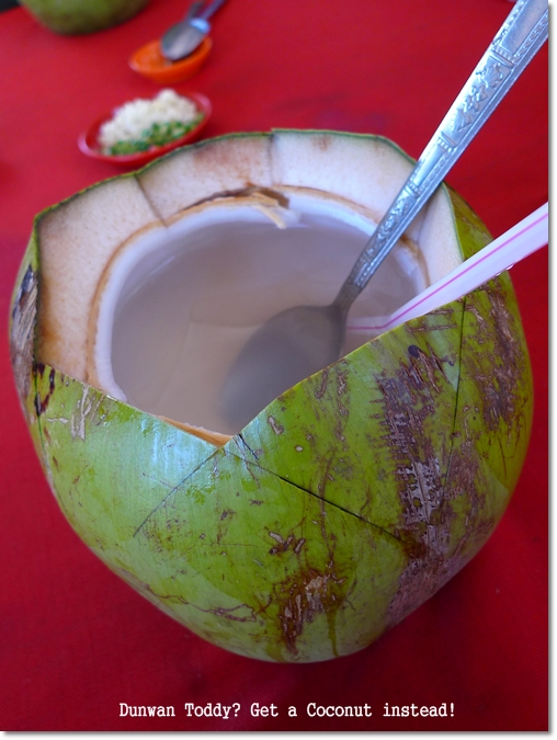 Coconut Drink @ Villa Seafood Restaurant