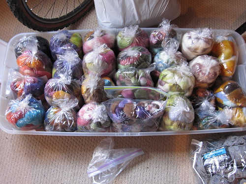 Remaining Hello Yarn Fiber Club stash