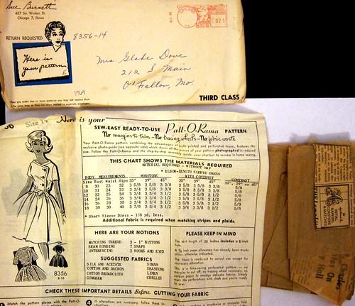"Vintage Mail Order ""Patt-O-Rama"" Pattern 8356."