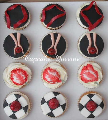 Twilight series cupcakes, top view