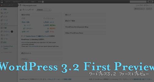 WordPress 3.2 ファーストプレビュー