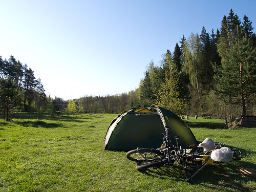 Camping by river -  Teykovo