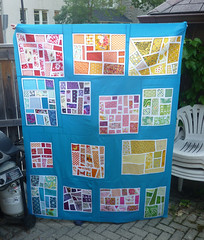 Rainbow Mosaic Quilt Top (Kindred Crafters) Tags: rainbow mosaic quilttop quiltingbee ohfransson modmosaic