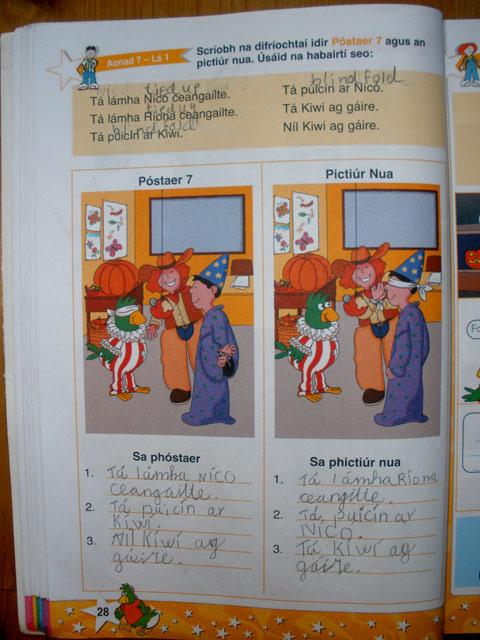 Interesting way of learning Irish.. :o